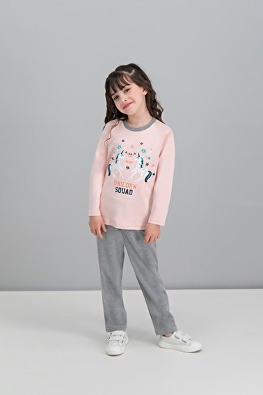 Roly Poly Rolypoly Unicorn Squad Açık Pembe Kız Çocuk Pijama Takımı Pembe
